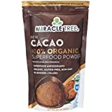 Miracle Tree's 100% Organic Cacao Superfood Powder | Smoothies, Baked Goods, Lattes | 8oz. (0.5lbs) Pouch | Fair Trade Certified, Non-GMO Certified, Gluten-Free Certified, 100% Organic Certified