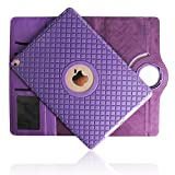 iPad 4 Case,Hulorry Soft TPU 360 Degree Rotating Stand Case Heavy Duty Colorful Cover Rugged Protective Folio Case for iPad 2/iPad 3/iPad 4 9.7 inch