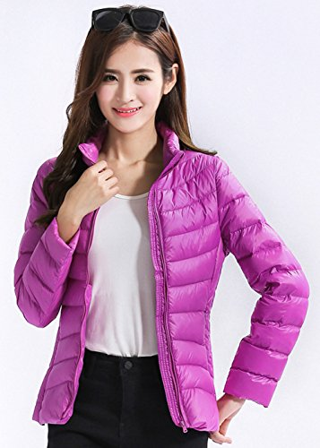 Peach Santimon Womens Color Down Jacket 13 Packable Available Lightweight Collar Puffer Stand Short 7fg7rBOq