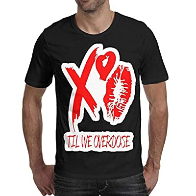 Mens xo-red-The-Weeknd- Short Sleeved Cotton T Shirts