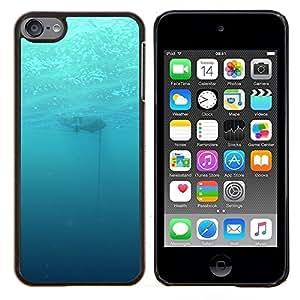 Profundo Submarino Océano- Metal de aluminio y de plástico duro Caja del teléfono - Negro - iPod Touch 6