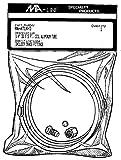 Monti & Associates, Inc. Div. of MA-Line MAAT3165 3/16'' aluminum tubing kit w/ brass fittings (5' co