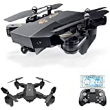 Malluo Aerial aircra,2.4GHz Foldable RC Drone Quadcopter with 720p HD FPV WIFI 2MP Camera,120° WIDE ANGLE Selfie 4 Channels 6-Axis Gyro Remote Control RC drone for beginer,Altitude Hold/Headless Mode
