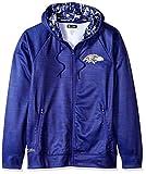 Zubaz NFL Baltimore Ravens Male Full Zip Camo Space Dye Hoodie, Medium, Purple
