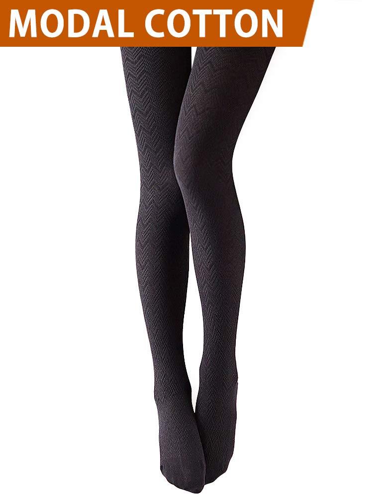 VERO MONTE 1 Pair Stretchy Tights Hue Tights 4 Women Control Top Tights (BLACK)