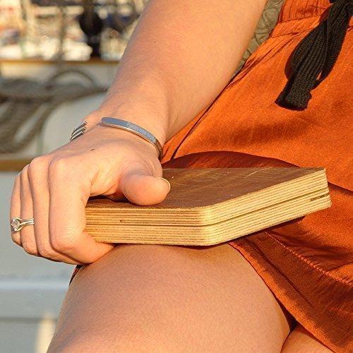 Cartera de cuero y madera vintage