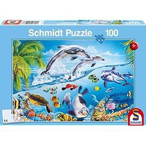 Schmidt Spiele 55523 Delfini Felici Puzzle Da 100 Pezzi