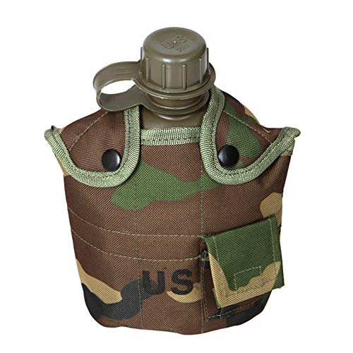 Weiliru 1.0L Water Bottle Camouflage Camping Hiking Army Military Outdoor Sports Bottle ()