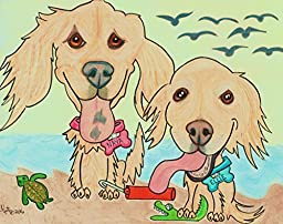 Dog Painting, Pet Painting, Dog Portrait, Pet Portrait, Pet Cartoon from Uploaded Photo