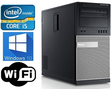 Dell Optiplex 790 High Performance Desktop Computer MiniTower, Intel Core i5-2400 Processor up to 3.4GHz, 8GB RAM, 2TB HDD + 120GB SSD, DVD, WiFi, Windows 10 Pro 64 bit (Certified Refurbished) 120 Gb Music
