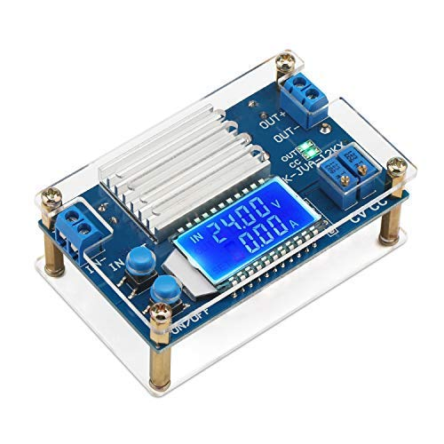 Power Supply Module, DROK DC-DC Buck Converter 5.3V-32V 24v to Adjustable 1.2V-32V 5v 9v 12v Step Down Voltage Regulator 12A Step-Down Volt Transformer 160W CC CV DC Reducer with LCD Display