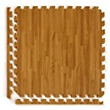 Greatmats Wood Grain Reversible Standard Wood/Tan Foam Floor Tiles 24 x 24 x 1/2 inch, 25 Pack