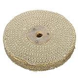 6 Inch 150x20mm Sisal Cloth Buffing Wheel Polishing - Power Tool Parts Abrasive Tools - 1 x Sisal Buffing Wheel