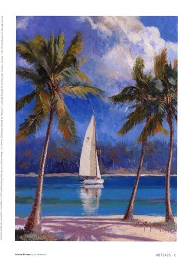 Island Breeze by Nenad Mirkovich - 6x8 Inches - Art Print ()
