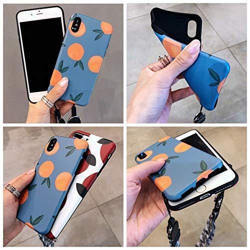Latest Ins Retro Orange AppleXs max Mobile Phone Shell 7p Tide Brand 6plus Small Fresh for iPhone8 Female XR,Orange,for iPhone XR orange iphone xr case 5