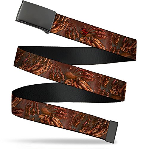 Buckle-Down Men's Web Belt Tattoo Johnny Brutal 1.5