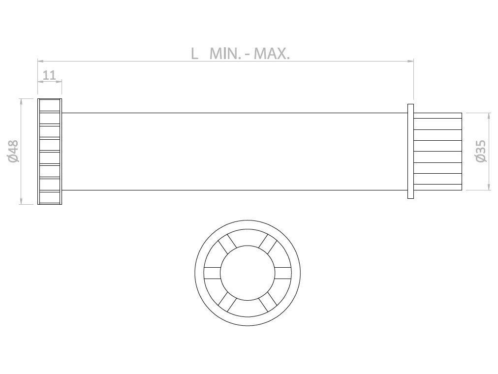 H 130-215 MM M/öbelfu/ß St/ützfu/ß verstellbar 13-24,5cm Bettfu/ß M/öbelf/ü/ße Bettf/ü/ße Boxspringbett