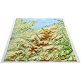 Snowdonia North Raised Relief Map ~ Unframed ~ plus detailed Snowdon flat laminated wall map