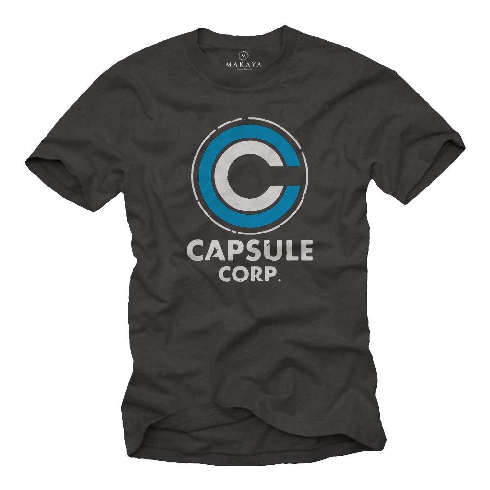 MAKAYA Camiseta para Hombre Capsule Corp Goku Anime Manga