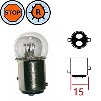 Set of 4 Bulbs 6v 8w BA15s for Classic Motorcycle Car Scooter