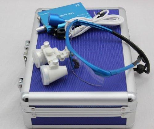 3 5x 420mm Surgical Binocular Loupes Headlight Blue