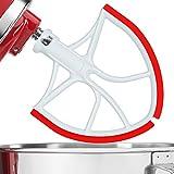 : Flex Edge Beater, Original Flat Blade for KitchenAid 6-Quart Bowl Lift Mixer by Sunway Design -Red [New Arrival]