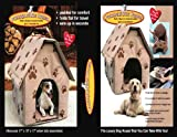 PAW PRINT PORTABLE DOG HOUSE - SOFT, WARM AND COMFORTABLE (GOES ANYWHERE!)