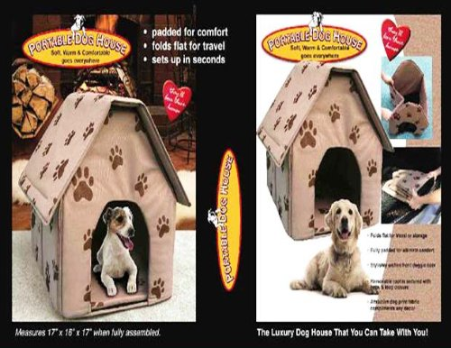 Paw Tunnel Print (PAW PRINT PORTABLE DOG HOUSE - SOFT, WARM AND COMFORTABLE (GOES ANYWHERE!))