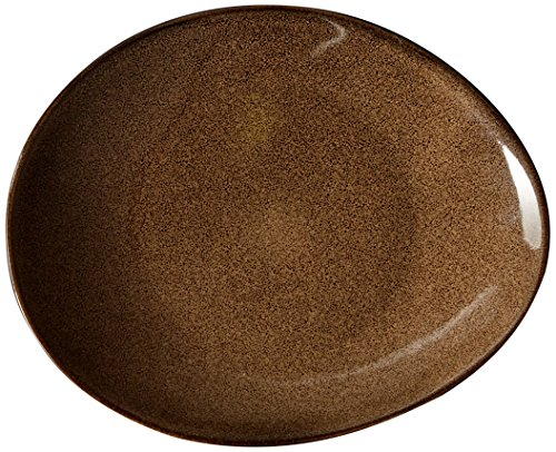 Oneida Foodservice L6753059342 Rustic Chestnut Oval Coupe Plate, 9