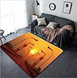 Vanfan Design Home Decorative 226970890 Third Thai Lao Friendship Bridge Modern Non-Slip Doormats Carpet for Living Dining Room Bedroom Hallway Office Easy Clean Footcloth