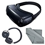 Samsung Gear VR 2016 Edition Virtual Reality Smartphone Headset + Samson RTE 2 Bluetooth Headphones + Fibertique Cleaning Cloth