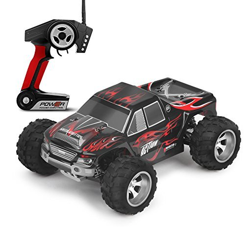 WLtoys RC Cars 50km/h 1/18 Scale Buggy 2.4GHZ RTR Radio Controlled Electric Vehicle 4WD Off Road Bigfoot Monster Truck, Best RC Toys for Kids and Adults – A979 Red