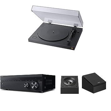 Sony PS-HX500 Plattenspieler (High-Resolution-Audio-Ripping-Funktion) Schwarz + AV Receiver (7.2-Kanal, Dolby Atmos/DTS:X) Sc