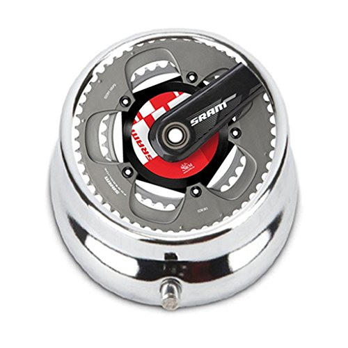 Powerglide Stainless Steel (Sram Power Meter Crankset Powerglide Custom Personalized Portable Pocket Pill Box Purse Unique Gift case)