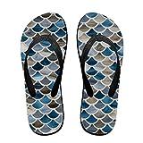 Unisex Flip Flopsjazz Glass Scales Blue Blend U Design Stylish Lightweight Sandals Shock Proof Beach Slippers