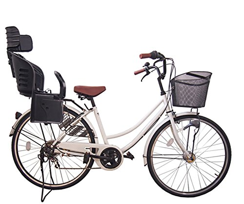 Lupinusルピナス 自転車 26インチ LP-266UA-KNRJ-BK 軽快車 シマノ外装6段ギア オートライト 樹脂製後子乗せブラック B073LKWTXR ホワイト ホワイト
