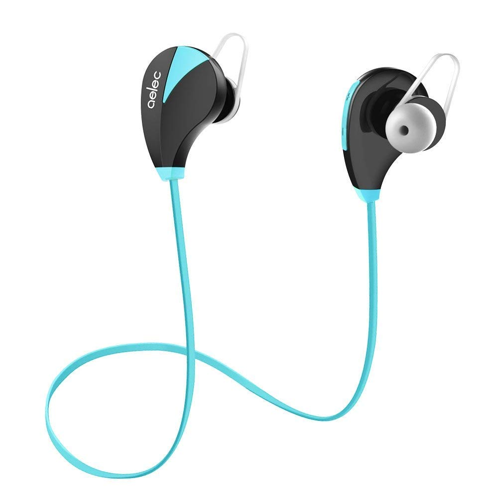 AELEC Wireless Bluetooth Headphones in-Ear Sports Earbuds Sweatproof Earphones Noise Cancelling Headsets with Mic for Running Jogging
