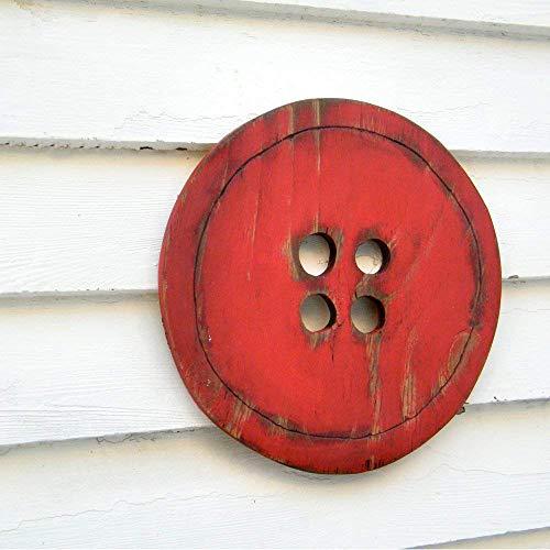 Button Wooden Wall Decor Sign