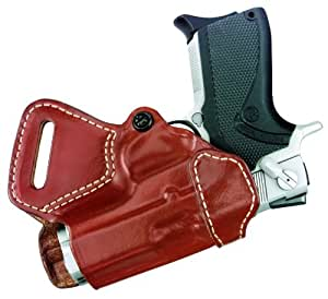 Gould & Goodrich 806-26RLH Gold Line Small Of Back Holster - Left Hand (Chestnut Brown) Fits SIG P220 w/rail,P225, 226, P228, 229, P245; SIG P226, P229 w/rail; SIG P226DAK, P229DAK w/rail;  SW M&P 9MM, .40, .357, .45