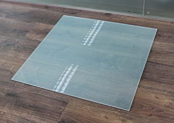 Funkenschutzplatte Kaminbodenplatte Glasplatte Sechseck 100x100cm