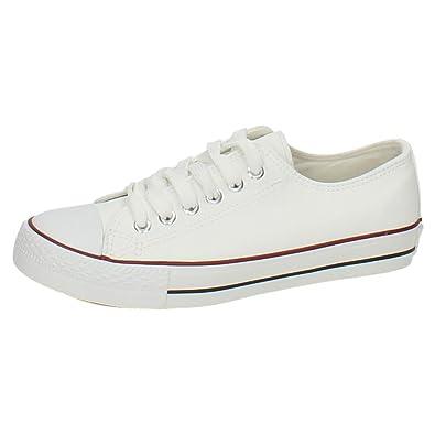 ZAPATOP JZ3305 Bambas Blancas Mujer Zapatillas Blanco 36