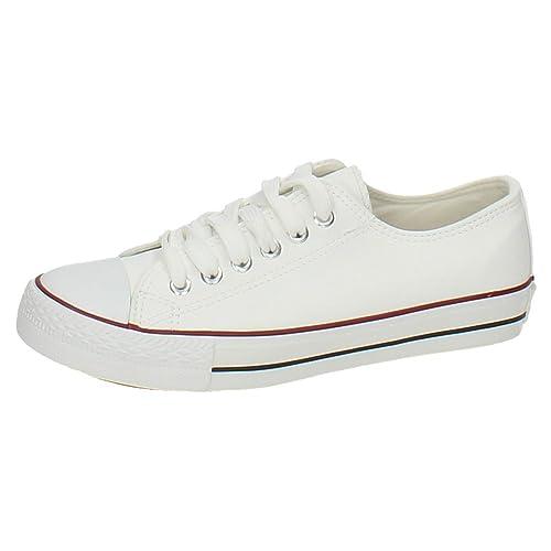 ZAPATOP JZ3305 Bambas Blancas Mujer Zapatillas: Amazon.es: Zapatos y complementos