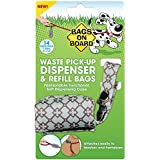 Bags on Board Patterned Soft Dog Waste Pickup Bag  Leash Dispenser, With 14 Waste Bags