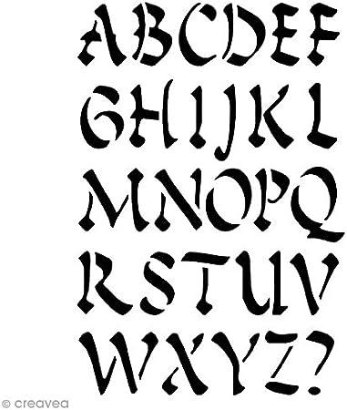 Artemio Alfabeto Times Plantilla Home D/éco 15,5/x 0,2/x 19,5/cm pl/ástico Negro