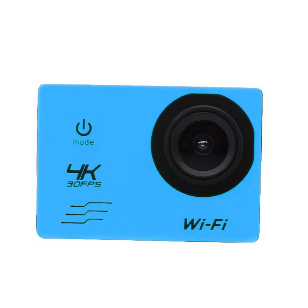 blueee XR126 Waterproof Digital Action Camera with Touch Screen 4K HD Video 12MP Photos Live Streaming Stabilization