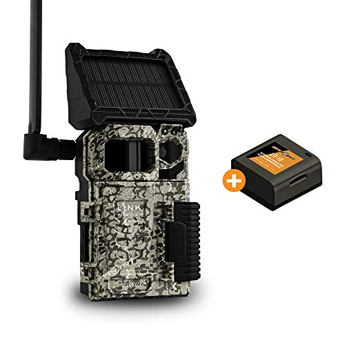 SPYPOINT LINK-MICRO-S-LTE Solar Cellular Trail Camera 4 LED Infrared Flash Game Camera with 80-foot Detection and Flash Range LTE-Capable Cellular Trail Camera 10MP 0.4-second Trigger Speed