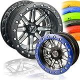 Hiper Wheel Sidewinder 2 Wheels - 12x6 - 3+3 Offset - 4/156 - Black/Machined , Color: Black, Wheel Rim Size: 12x6, Rim Offset: 3+3, Bolt Pattern: 4/156, Position: Front/Rear 1260-POL01-33-SBL