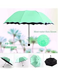 Travel Umbrellas for Women,Sun Umbrellas for Women,Compact Umbrellas for Rain and Wind with Met Water Begin Bloom and One Handed Operation.