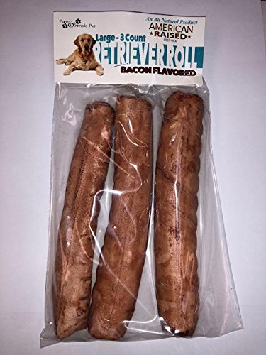 Pure & Simple Pet 6551 8'' Bacon Retriever Roll (3 pack), Large