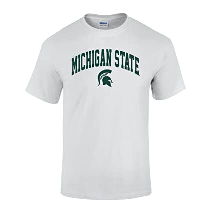 26d1f8eb5 NCAA Michigan State Spartans Men's Short Sleeve T-Shirt White Arch, White  Green,